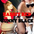 RABBIT RED BUNNY BLACK